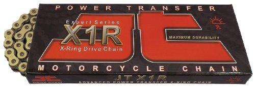 - JT Sprockets (JTC520X1RGB116RL) Gold/Black 116-Link 520 X1R Heavy Duty X-Ring Drive Chain