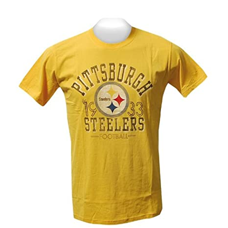 Pittsburgh Steelers Gold Established 1933 Fade Away T Shirt