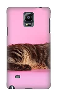 Awesome Case Cover/galaxy Note 4 Defender Case Cover(Animal Cat) Gift For Christmas