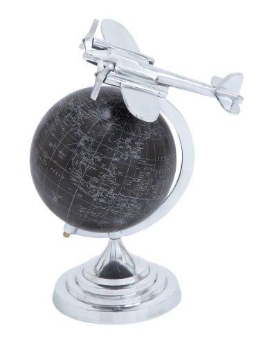 Deco 79 Aluminum Globe, 16 by 13-Inch