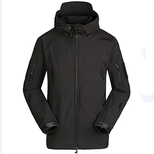 (Military Ba Men's Special Ops Military Tactical Soft Shell Jacket Coat-Black M)