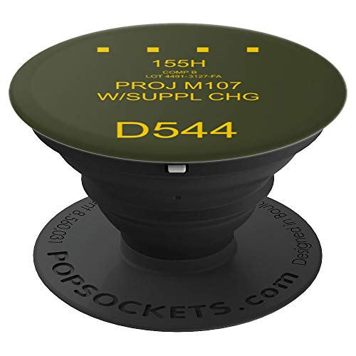 Artillery Shell - Field Artillery: 155mm HE Shell Round Marking - PopSockets Grip and Stand for Phones and Tablets