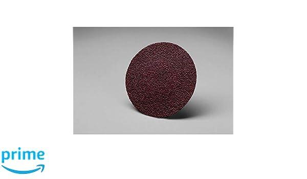 Cloth Aluminum Oxide 3M Roloc Disc TS 361F Dry//Wet 2 Diameter 60 Grit 2 Diameter Pack of 50