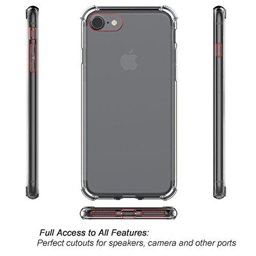 iPhone 8 / iPhone 7 Hülle, ProCase Schlank Hybride Kristallklare Abdeckung Schutzhülle für Apple iPhone 7 4,7 Zoll -Klar