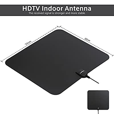 Leelbox HDTV Antenna 60 Miles Range Digital 4K/Full HD/Indoor Antenna Detachable Amplifier Signal Booster 13ft High Performance Coax Cable Free TV Pro