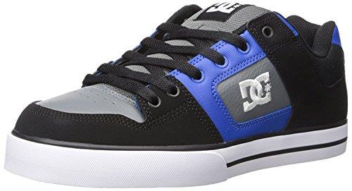 DC Mens Pure Action Sport Sneaker, Black/Blue/Grey, 38.5 D(M) EU/5.5 D(M) UK