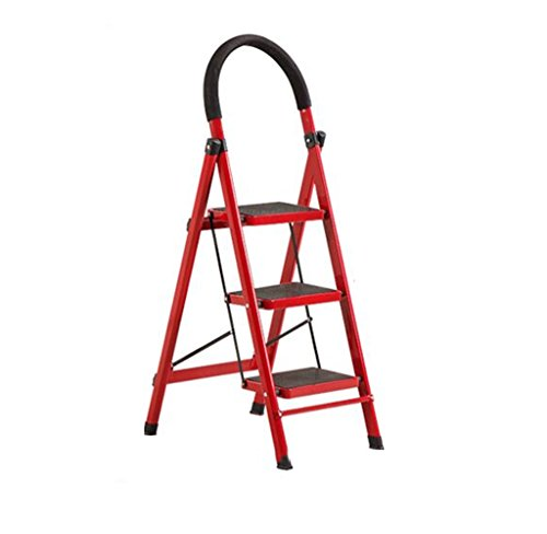 ZfgG Step Stool, Foldable Thickening Ladder Multi-Function Widened Steel Pipe Mobile Ladder (Color : #1)