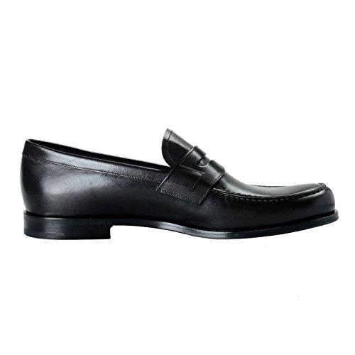 Prada Menns Sort Skinn Loafers Aurlandssko Oss 12 Den 11 Eu 45
