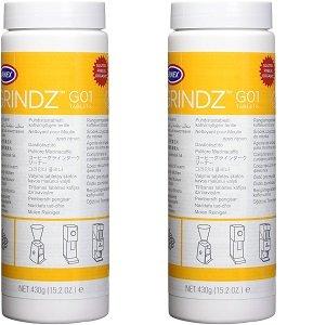 Urnex Grindz Professional Coffee Grinder Cleaning Tablets, 430 grams (2-(Pack))
