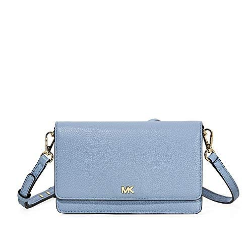 MICHAEL Michael Kors Pebbled Leather Convertible Crossbody 32T8GF5C1L-487 (Light Blue Michael Kors Handbags)