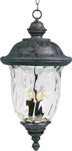 Maxim Lighting 40427WGOB Lantern Carriage House VX 3-Light Outdoor Hanging LAN ()