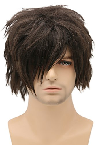 Daryl Wig Cosplay TV Costume Accessories Brown Short Curly Hair Halloween Silk Party Props -