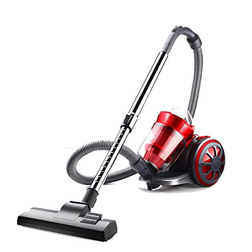 OR&DK Vacuum Cleaner, Bagless Canister Vacuum Cleaner Strong Power Hepa Filter Cyclone Separation retracts Button-red