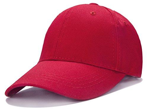 (Unisex Kids Plain Cotton Adjustable Low Profile Baseball Cap)