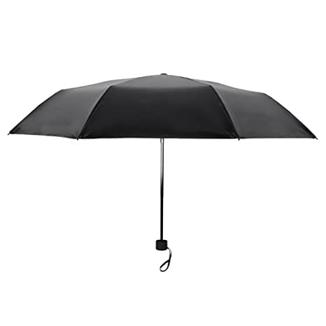 Sombrilla doble paraguas negro paraguas Sombrilla paraguas plástico negro paraguas sencillo color sólido (Color :