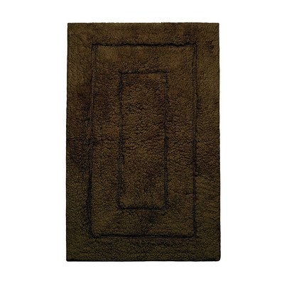 Kassatex 100-Percent Egyptian Cotton Kassa Design Bath Rug, 20 by 32-Inch, Chocolate