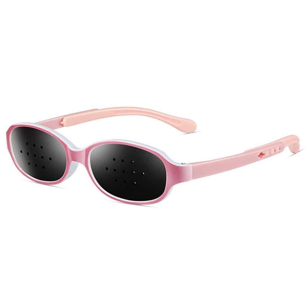 Unisex Eyesight Vision Care Vision Improve Pinhole Glasses Eyes Exercise Fashion Natural (Color : Pink)