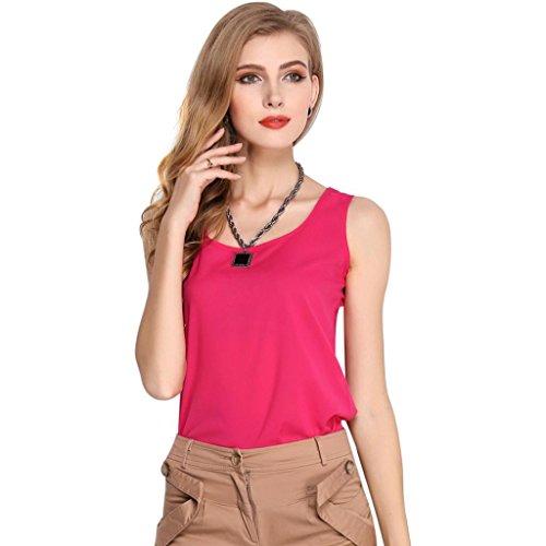 PRIAMS 7 - Camiseta sin mangas - para mujer Rosa Roja