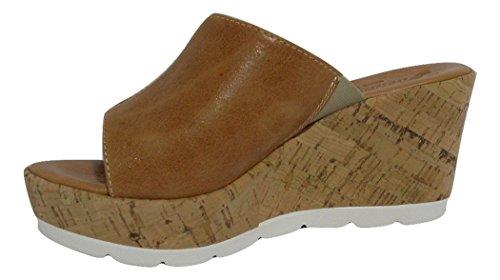 SUSIMODA - Sandalias de vestir de Piel para mujer marrón camel