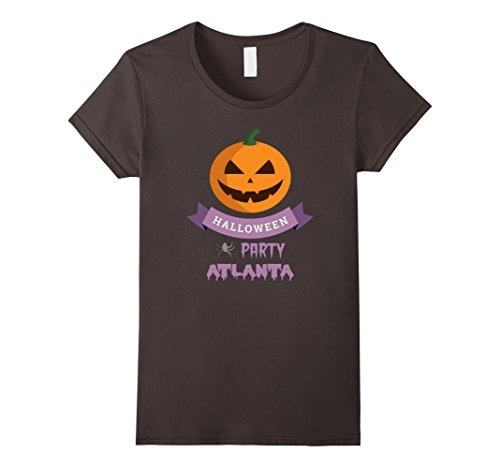 Womens Atlanta Scary Pumpkin Local Halloween Party T Shirt Small (Halloween Costume Parties In Atlanta 2017)
