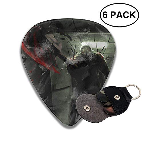 gahjdfxiaoning Happy Halloween Demon With Axe.jpeg 351 Rock Electric Acoustic Guitar Pick Accessories White.46mm -