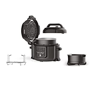 Ninja Foodi Electric Multi-Cooker [OP300UK] Pressure Cooker and Air Fryer, Grey and Black