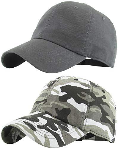H-218-2-708406 2-Pack Baseball Cap Bundle: Charcoal & City Camo