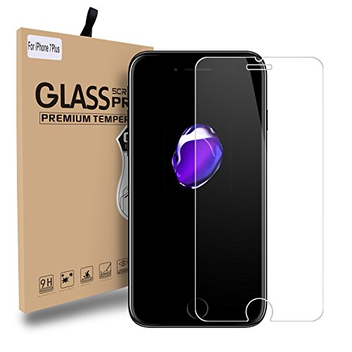 Price comparison product image CIMOXI iPhone 7 Plus iPhone 8 Plus Screen Protector Glass, [0.33mm 9H] [Bubble Free Installation] Tempered Glass Screen Protector for iPhone 7 Plus, iPhone 8 Plus (5.5 inch)