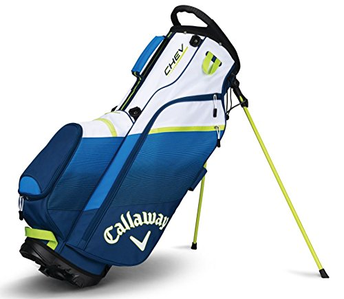 Callaway Golf 2018 Chev Stand Bag, Navy/ Blue/ Neon Green