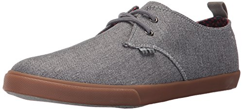 Ben Sherman Men's Bradford Lace up Sneaker, Grey, 10 M US (Ben Sherman Casual Shoes)