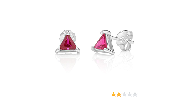 Earrings with Pink Crystal Glass Beads on Sterling Silver Triangles and Earring Wires CHE-367