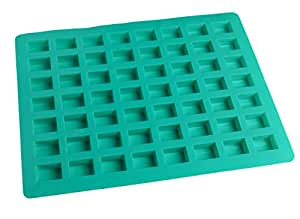 O'Creme Rectangle Caramel Candy Silicone Mold for Chocolate Truffles Ganache Jelly Candy and Praline