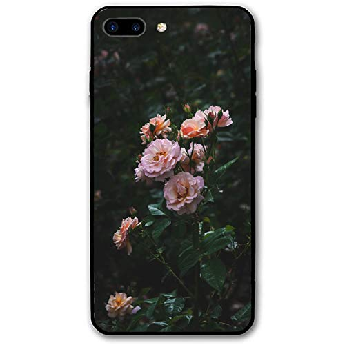 Flowering Trunk (iPhone 8 Plus Case, iPhone 7 Plus Case, Shockproof Roses Bush Garden Flowering Buds Phone Cover Full Protective Case Compatible for iPhone 8 Plus / 7 Plus - Sand Pink)
