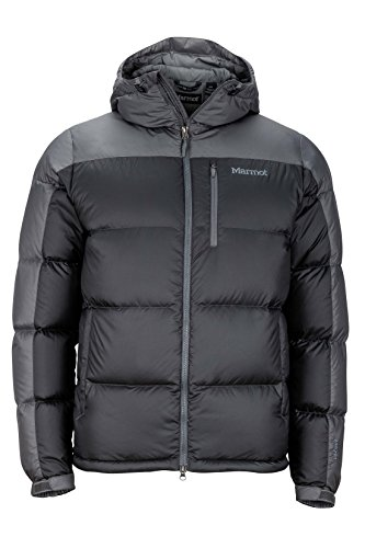 Marmot Down Coats - Marmot Guides Down Hoody Men's Winter Puffer Jacket, Fill Power 700, Slate Grey/Cinder, X-Large