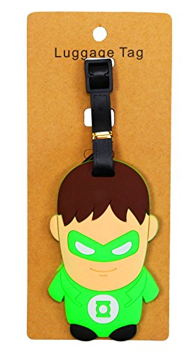 REINDEAR Heavy Duty Baggage Luggage Tag US Seller (Green Lantern) (Lantern Bag Green Gift)