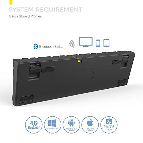 DREVO Calibur Teclado mecánico Inalámbrico Bluetooth 4.0 71 teclas retroiluminado RGB (Switch Marrón, Negro): Amazon.es: Electrónica
