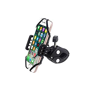 Bike Mount, Universal Cell Phone Bicycle Rack Handlebar & Motorcycle Holder Cradle