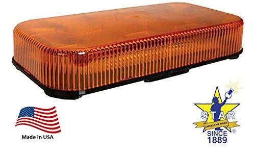 Mytee Products Minibar LED Strobe Light - Amber Permanent Mount Star Headlight - Amber Permanent Mount