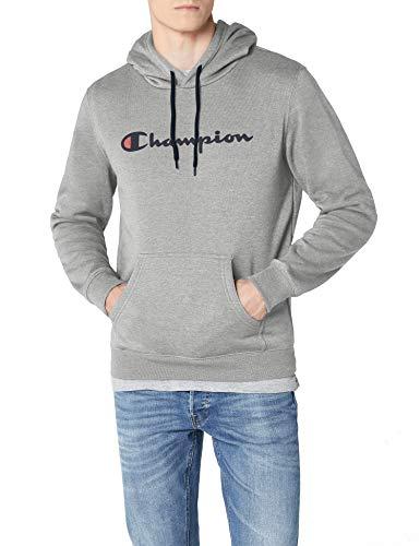 Champion Herren Classic Logo Kapuzenpullover, Grau, L