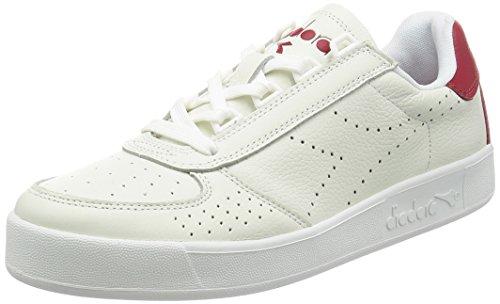 Scarpe Da Ginnastica Uomo Diadora Mens Belite Premium In Bianco-rosso Bianco