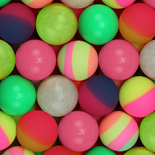 (Hi Bouncing Balls 32 mm Mega Colorful Assorted Mixed Superball Colored Balls for Vending Machines Great for Kids Novelty Prizes Gifts in Bulk 100 pcs Rubber Large Bouncy Balls (Colors Mix 1.26