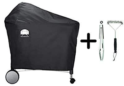 Texas Grill Covers 7455 | 7152 Premium Cover for Weber Performer Deluxe Charcoal Grill, 22-Inch Including Brush and Tongs