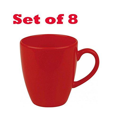 Waechtersbach Fun Factory Red Jumbo Cafe Latte Cups (Set of 8)