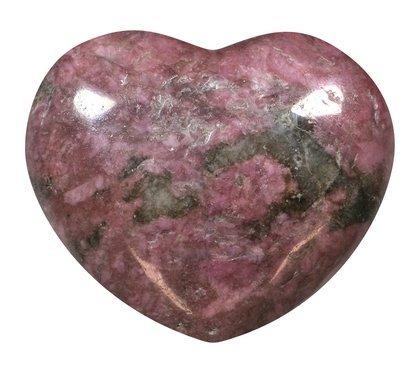 Rhodonite Crystal Heart - 45mm