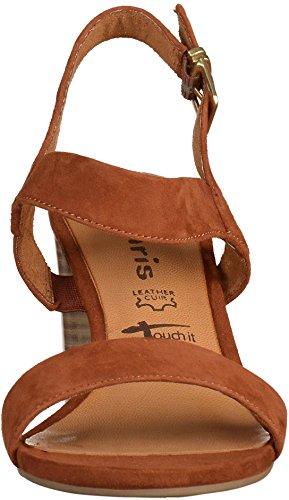 Tamaris 1-1-28321-28-339 - Sandalias de vestir de Piel para mujer marrón brandy