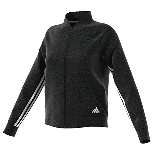 UPC 191031274796, adidas Womens Athletics Sport-2-Street Track Jacket, Black Melange/White, Small