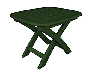 "21"" Recycled Earth-Friendly Outdoor Patio Side Table - Green"