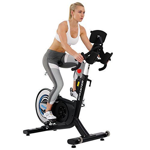 Sunny Health & Fitness Asuna 6100 Sprinter Cycle Exercise Bike – Magnetic Belt Rear Drive, 350lb Weight Capacity, Commercial Indoor Cycling Bike