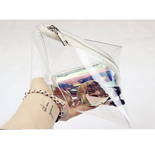 transparente Triangular Bolso de del transparentes embrague de las aprobado tringulo Flada del mujeres estadio del qZdfwZ