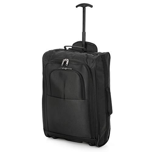 Eono Cabina 55 Essentials Como 35 Dos Negra Cm Viaje X Maleta Ruedas 3 Equipaje Apta 53 De 20 Cm zzx1rq